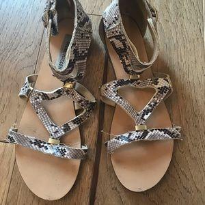 Steve Madden Snakeskin Sandals